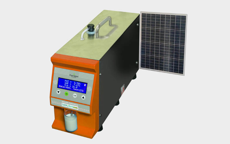 Solar Powered Milk Analyser