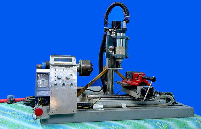 CNC Milling Machine Cum Lathe