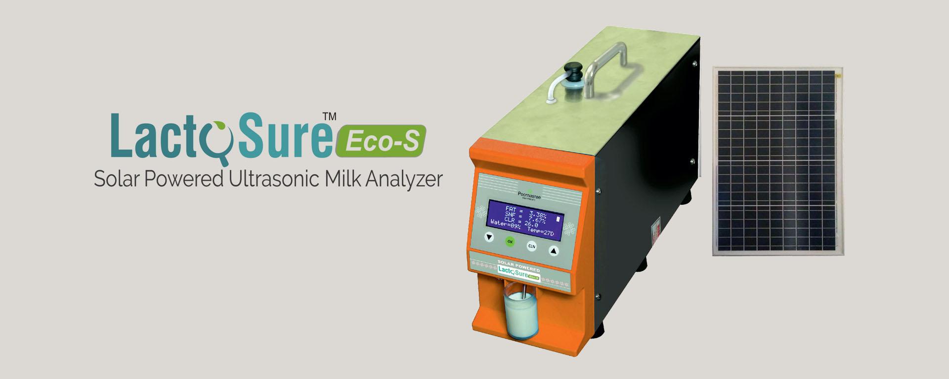 Solar Powered Ultrasonic Milk Analyser